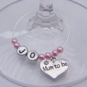 Mum To Be Personalised Wine Glass Charm